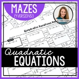 Solving Quadratic Equations Mazes (Rational and Irrational Solutions)