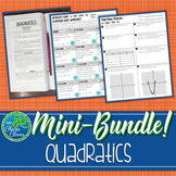 Quadratic Equations Mini-Bundle (Standard, Intercept and Vertex Form)