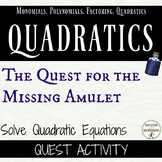 Quadratic Equations Activity Quest for the Amulet