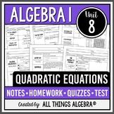 Quadratic Equations (Algebra 1 Curriculum - Unit 8) DISTAN