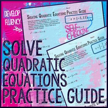 Quadratic Equations Practice Guide