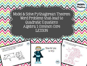 Quadratic Equations: Pythagorean Theorem Word Problems