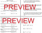 Quadratic Equations Review