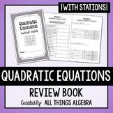 Quadratic Equations Review Book