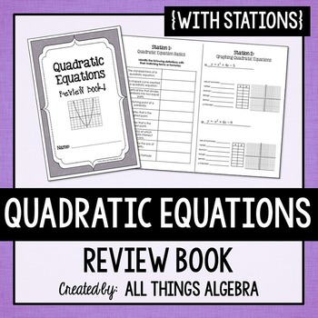 Quadratic Equations Review Book