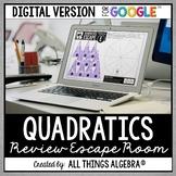 Quadratic Equations Review Escape Activity: DIGITAL VERSION (for Google Slides™)