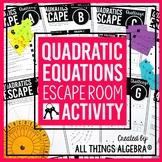 Quadratic Equations Review - Escape Room Activity