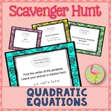 Quadratic Equations Scavenger Hunt Activity (Algebra 2 - Unit 4)