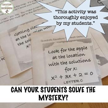 Factor Quadratic Equations Math Detective Activity