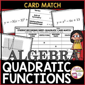 Quadratic Equations: Standard/Vertex Forms, Graphs and Characteristics