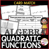 Quadratic Functions: Standard/Vertex Forms, Graphs and Characteristics