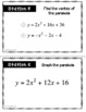 Quadratic Equations Stations Activity