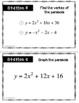 Quadratic Equations Stations Activity