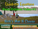 Quadratic Equations - Story Problem Video 1