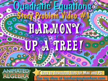 Quadratic Equations - Story Problem Video 2
