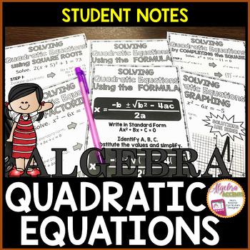Quadratic Equations Student Notes