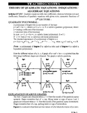 Quadratic Equations - Teaching Notes