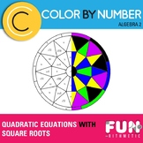 Quadratic Equations With Square Roots Color by Number
