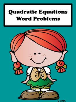 Quadratic Equations (Word Problems)