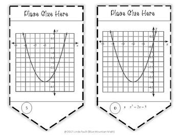 Quadratic Equations and Graphs Sequence Activity