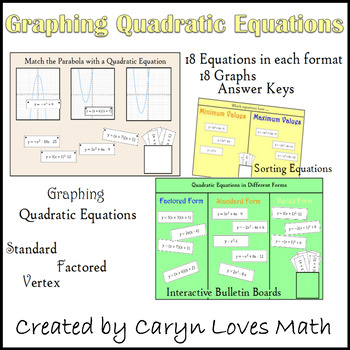Graphing Quadratic Equations and Graphs Sort and Interacti
