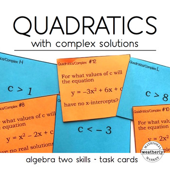 Quadratic Equations  with Complex Solutions