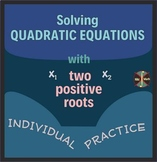 Quadratics with Two Positive Roots (Rule of Signs) - Indiv