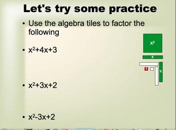 Quadratic Expressions Lesson 4 - Factoring x^2+ bx + c