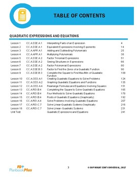 Quadratic Expressions and Equations
