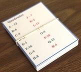 Quadratic Flash Cards - Matching Game