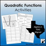 Quadratic Functions Activity  (A6A, A7A, A7C)