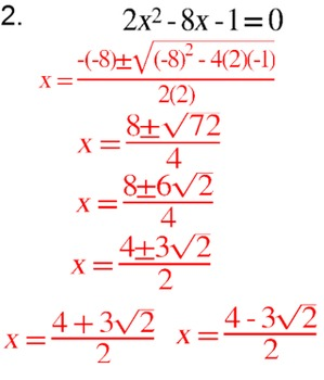 Quadratic Formula - 4 Intro's, 11 Assignments & a Reference for SMART