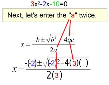 Quadratic Formula - 4 Intro's, 11 Assignments & a Referenc