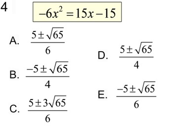 Quadratic Formula - 4 Intro's, 11 Assignments & a Reference for PDF