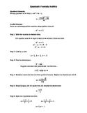 Quadratic Formula Activity