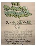 Quadratic Formula Anchor Chart