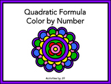 Quadratic Formula Color by Number
