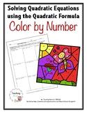 Quadratic Formula Color by Number Activity
