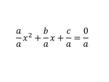 Quadratic Formula Derivation Activity