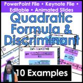 Quadratic Formula & Discriminant Powerpoint & Keynote Presentation