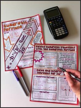 Quadratic Formula Doodle Notes