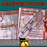 Quadratic Formula Doodle Notes