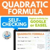 Quadratic Formula Fun Digital Activity for Google Slides™