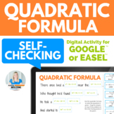 Quadratic Formula Fun Activity for Google Slides