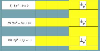 Quadratic Formula Internet Activity- Google Classroom - No Grading!