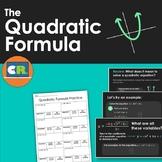Quadratic Formula Introduction Lesson