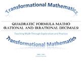 Quadratic Formula MATHO (Math BINGO!)