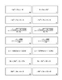 Quadratic Formula Matching