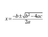 Quadratic Formula - Memorizing Help