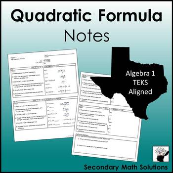 Quadratic Formula Notes